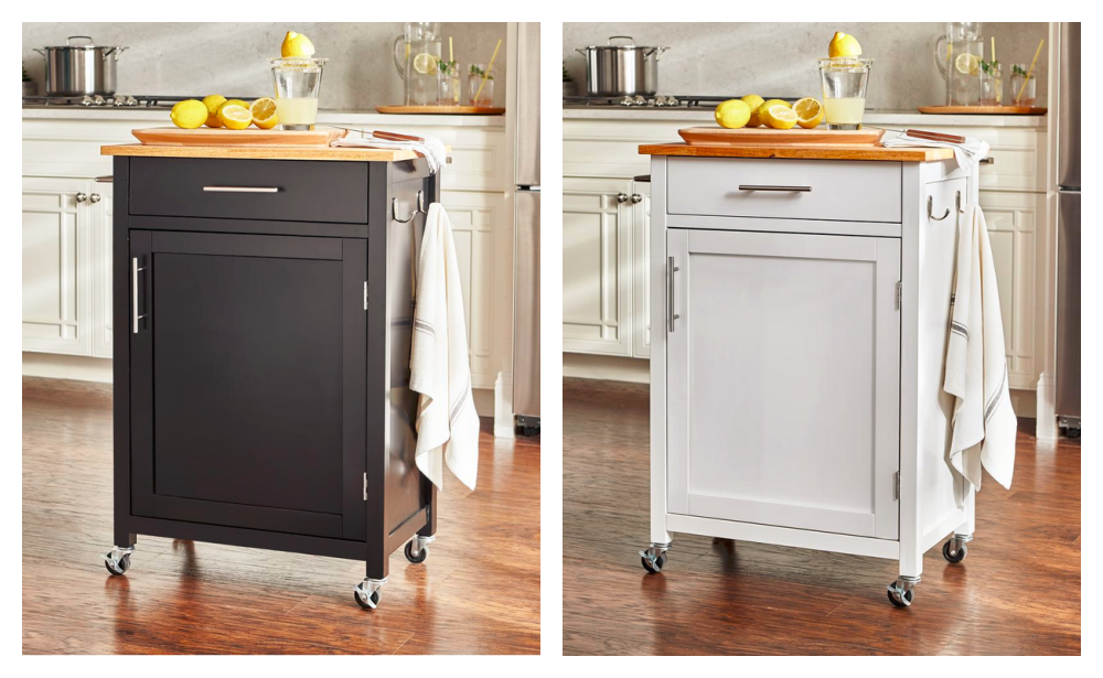 Glenville White Kitchen Cart With 1 Drawer 103 20 Reg 349 Free Shipping At Home Depot Living Rich With Coupons