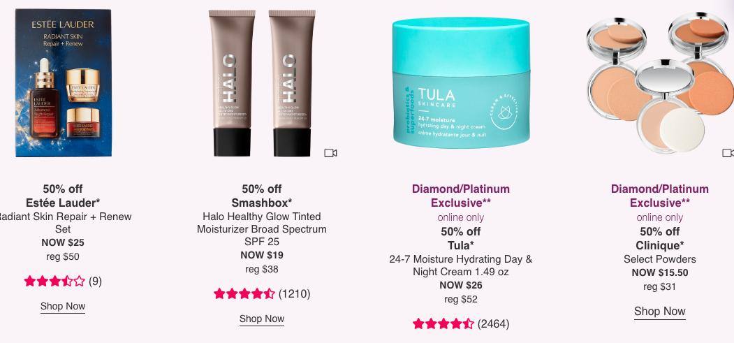 Ulta Beauty : 50% Off Estée Lauder, Smashbox & More
