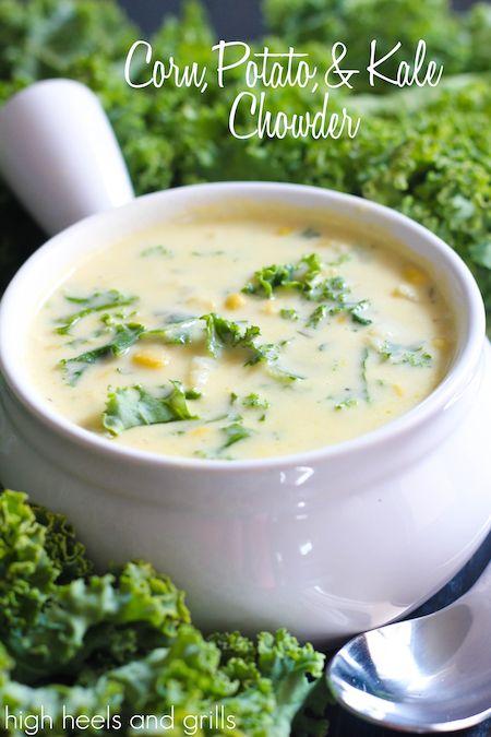 Corn, Potato & Kale Chowder