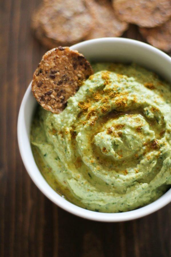 Roasted Garlic Kale Hummus
