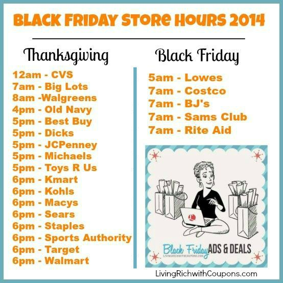 Black Friday STore Hours 2014