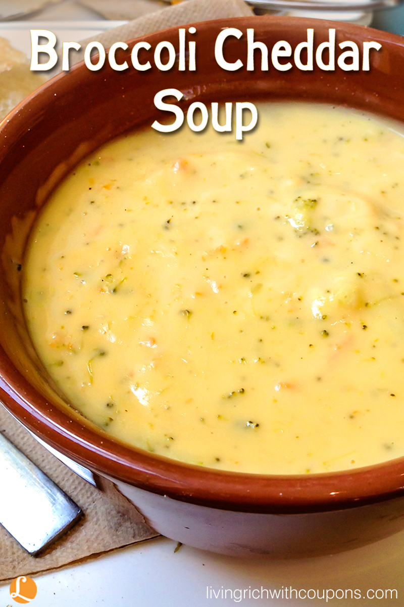 Broccoli Cheddar Soup Recipe -Living Rich With Coupons®