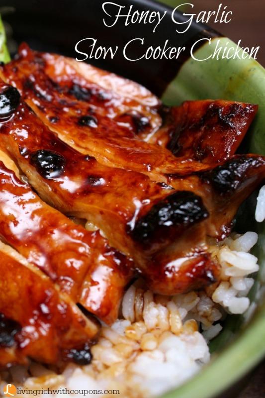 Honey Garlic Slow Cooker Chicken Recipe