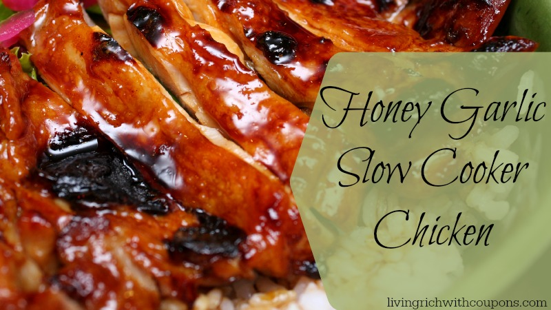 Honey Garlic Slow cooker chicken