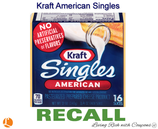 Kraft American Singles Recall