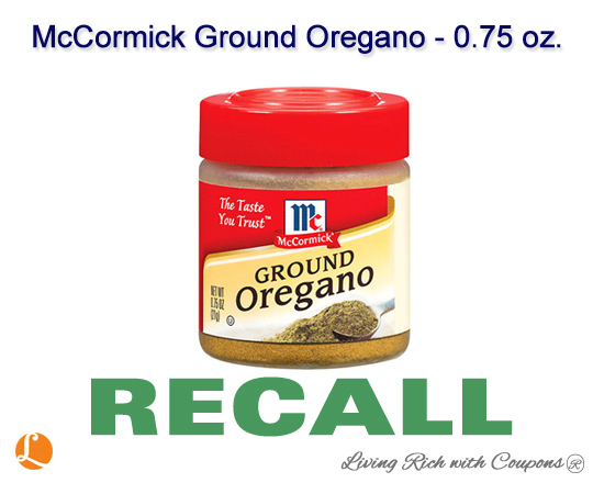 McCormick Ground Oregano Recall