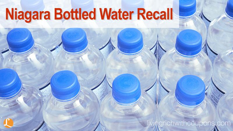 Niagara Bottled Water Recall 2015