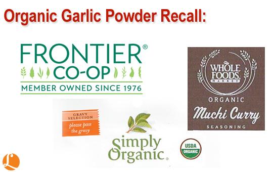 Organic Garlic Powder Recall 3-18-2015