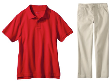 target coupon code school uniforms as low as each