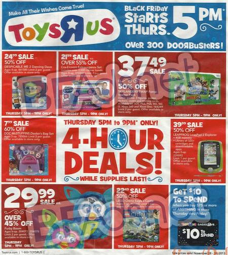 Toys R Us Black Friday Ad 2013