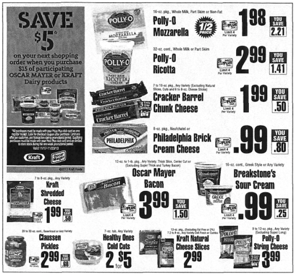 Kraft Catalina Deal ShopRite