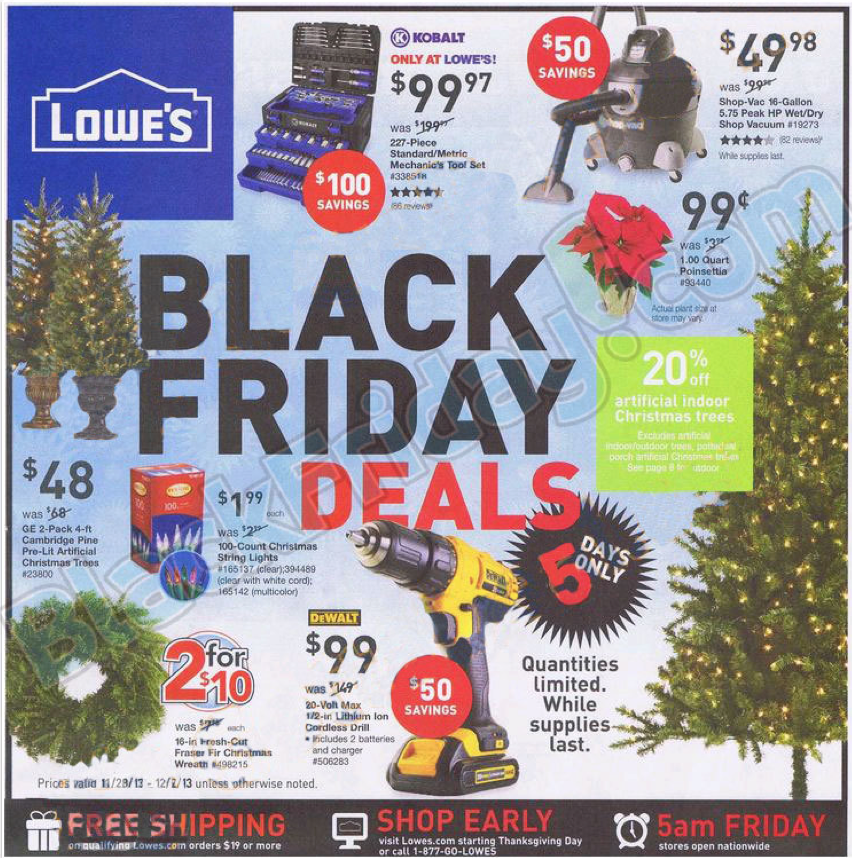 Lowes Black Friday Ad 2013 Black Friday 2013 Ads 2013