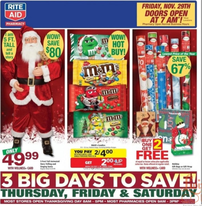 Rite Aid Christmas Hours.Rite Aid Preview Ad 11 24 Rite Aid Coupon Match Ups