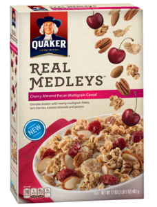 Quaker Real Medleys Cereal Coupon