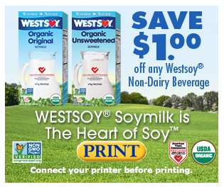 Soy milk coupons