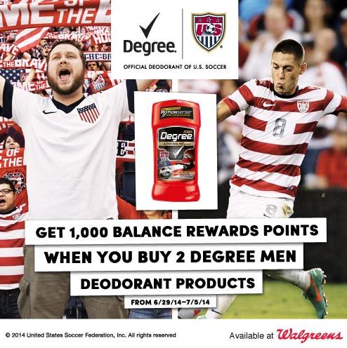 Degree Walgreens Deal