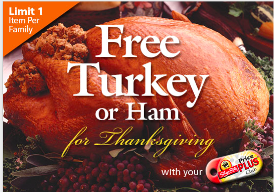Shoprite Free Turkey Or Ham For Thanksgiving Offer Is Back