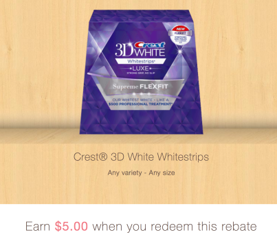 $5 off. $5 off various 3D White Whitestrips with Light, Vivid, Gentle Routine, Glamorous White, Professional Effects, 1HR Express, FlexFit or Monthly Whitening Boost Whitestrips products by Crest ($5/1) when you redeem this coupon at Meijer (registered mPerks members only) Expires Dec. 29,