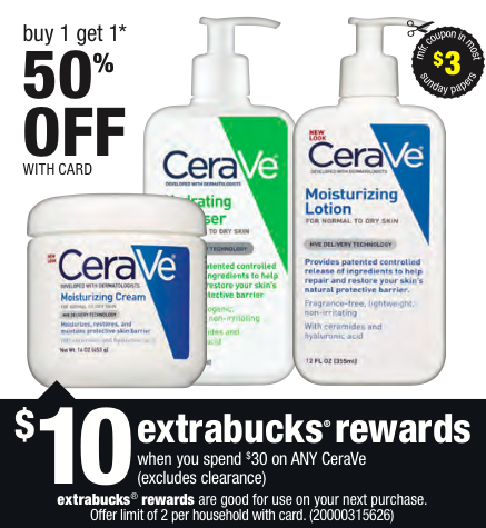 Cerave lotion coupons discounts