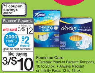 Tampax Coupons Save 2 75 On Tampax With Tampax Printable