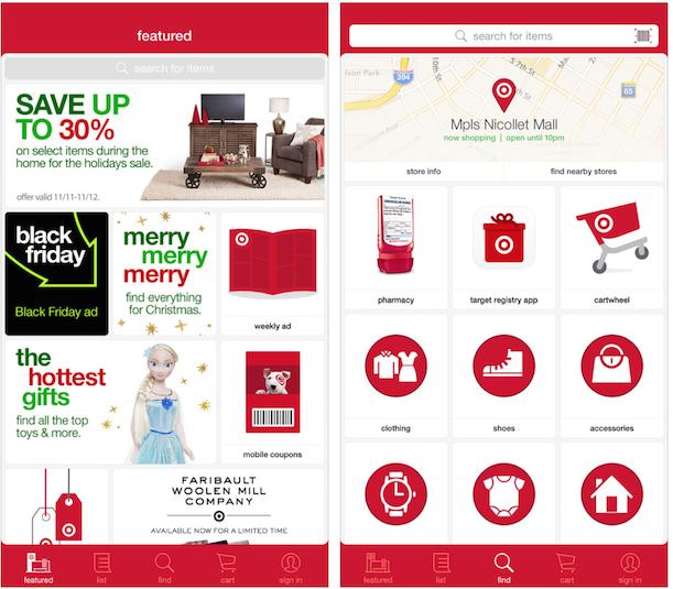 Target coupon mobile app