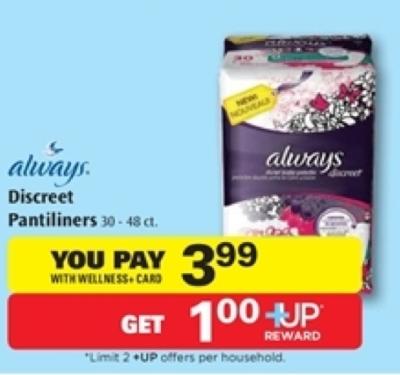 Always pantiliners coupons