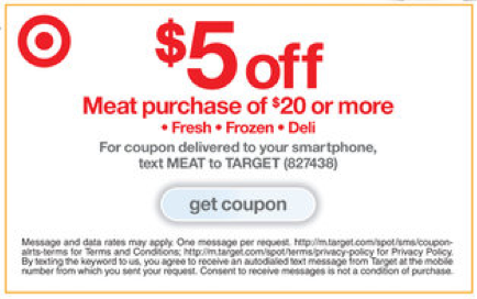 Get target coupons in mail