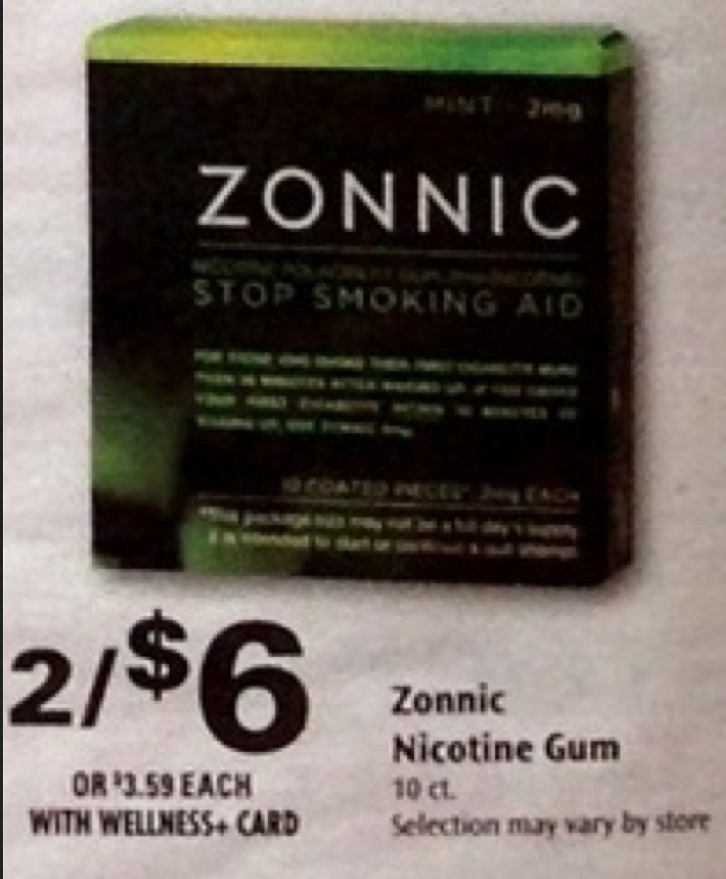 photograph about Nicorette Printable Coupon named Nicorette gum coupon codes : Privileged grocery discount codes printable