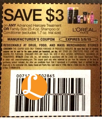 loreal hair gel coupons