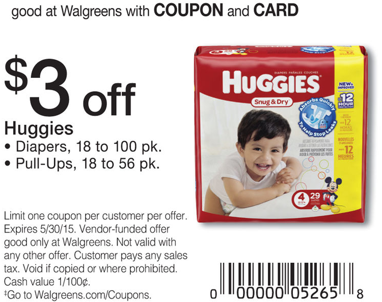 image about Huggies Coupons Printable identified as Huggies Diapers Coupon - $3.99 at WalgreensLiving Loaded With