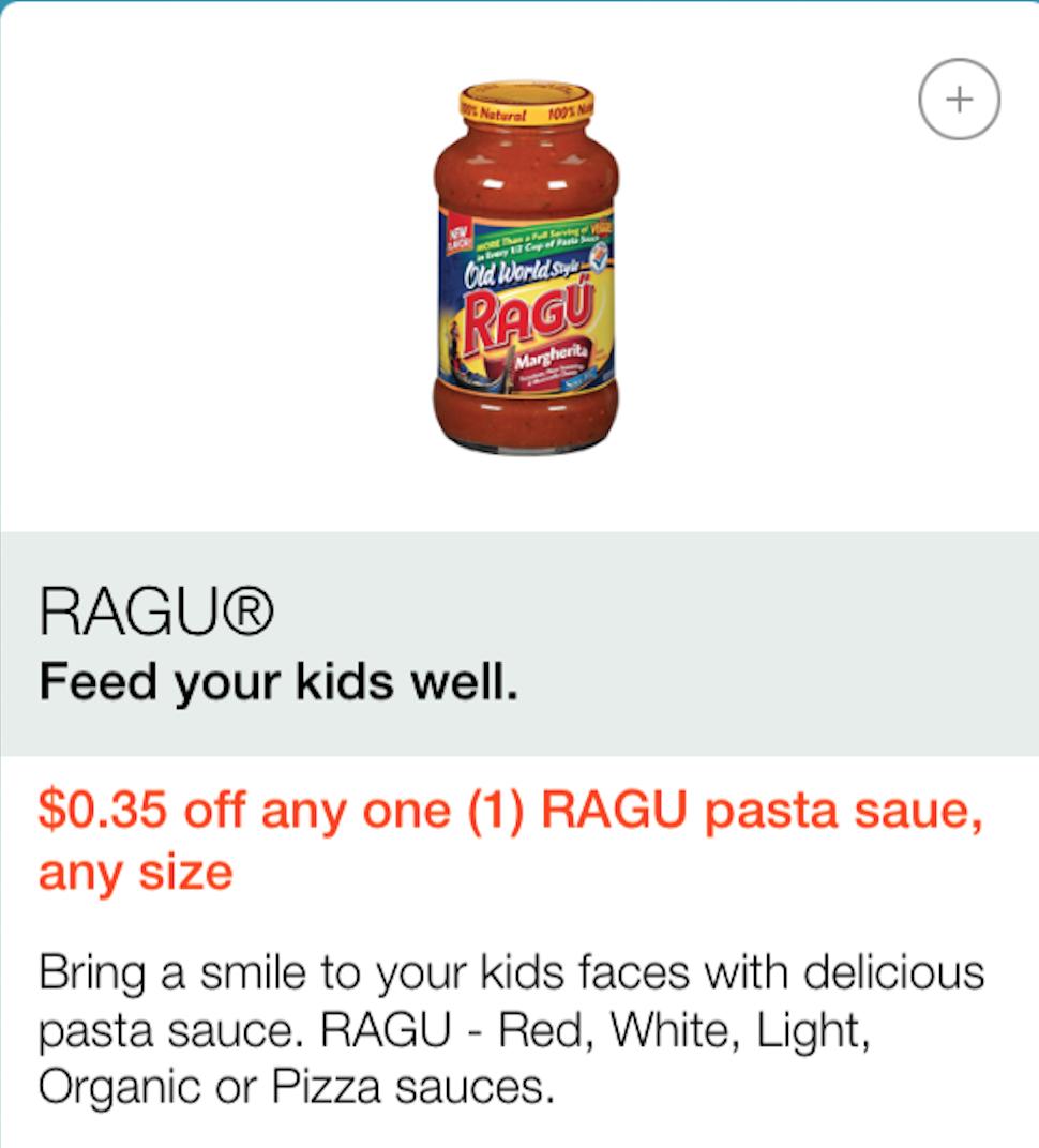 Ragu Pasta Sauce Printable Coupon 2018 Ntb Printable Coupon 2018