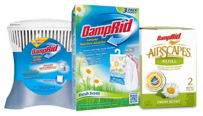 DampRid Hanging Moisture Absorber - 4 pk. by WM Barr & Co Inc. | Item #: DampRid Hanging Moisture Absorbers prevent mold and mildew stains caused by excess moisture. Each absorber is designed to reduce allergens and to protect against moisture. Specifications.