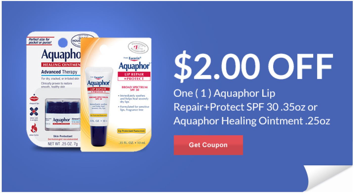 graphic regarding Aquaphor Printable Coupon identified as Clean Ceremony Assist Unique Discount codes - Conserve upon Aquaphor Lip Mend