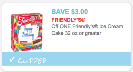 photograph relating to Friendly's Ice Cream Coupons Printable Grocery named Friendlys Ice Product Cake as Minimal as $3.99 at ShopRite!Dwelling
