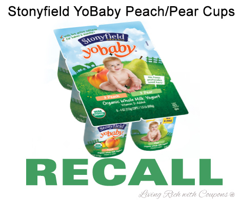 Stonyfield Yobaby recall