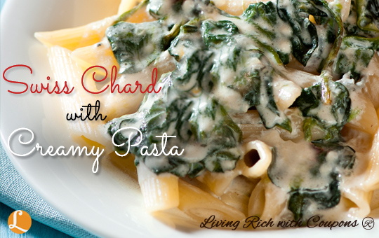 Swiss Chard With Creamy Pasta