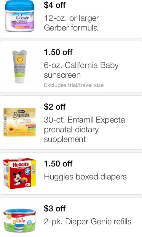 Baby coupons target mobile