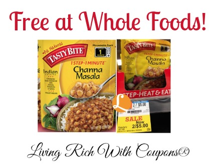 FREE Tasty Bite Indian Cuisines at Whole Foods! | Living ...