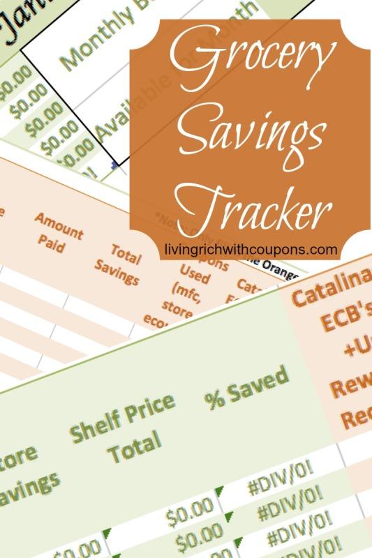 Free Grocery Savings Tracker
