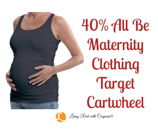 3ad8af132d5 Target Cartwheel Offer - 40% off all Maternity Clothing -Living Rich ...