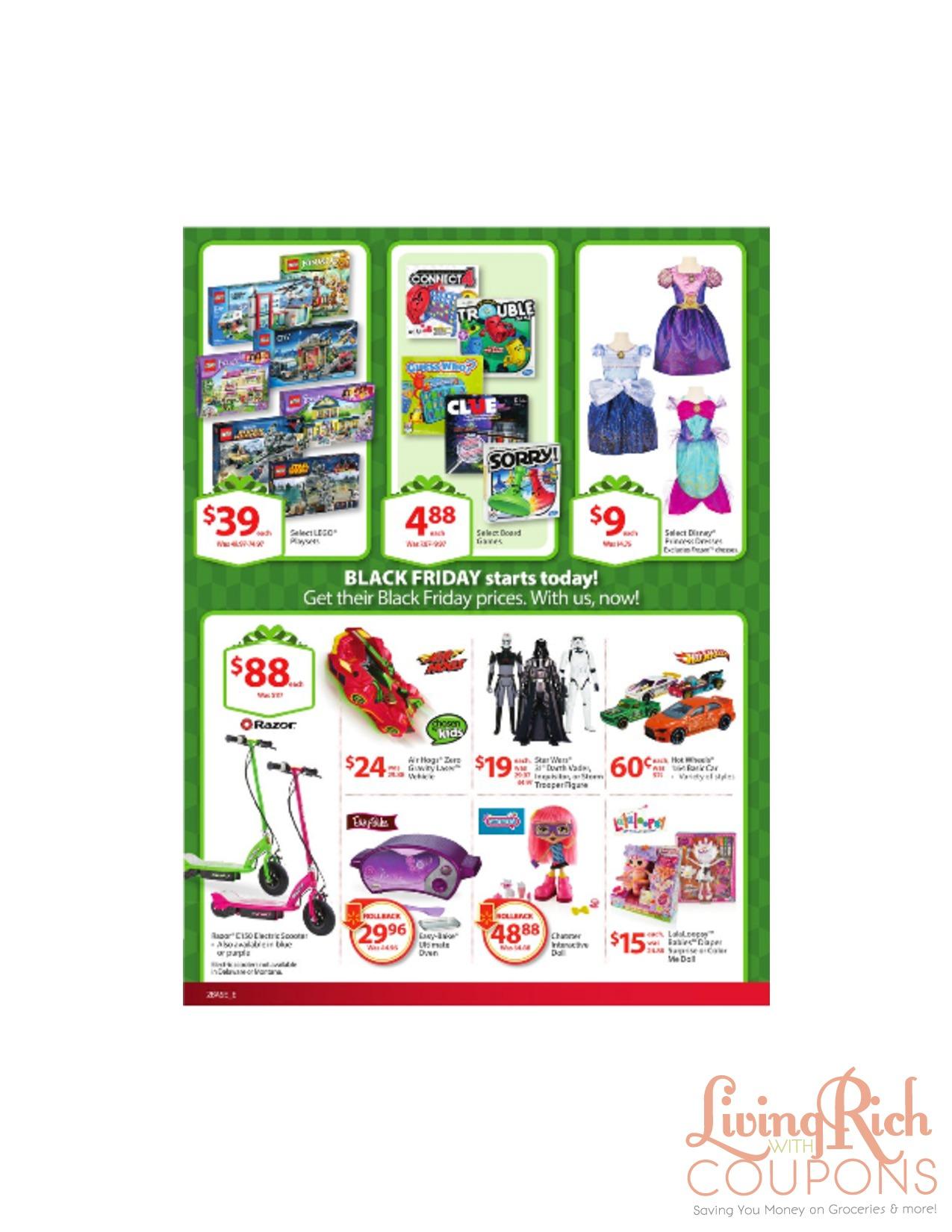 Walmart black friday sale paper