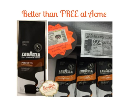 Lavazza Coffee Acme Deal Better Than Free Living Rich