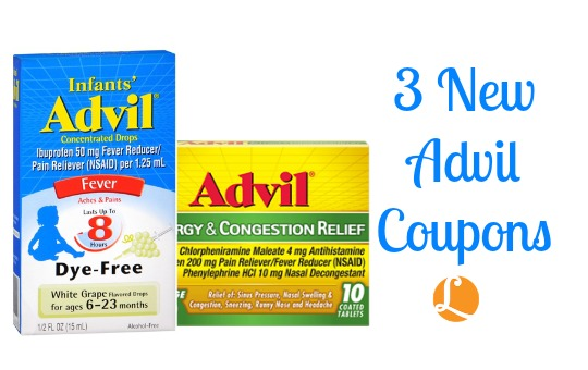 advil coupons - save  4 00 in advil coupons