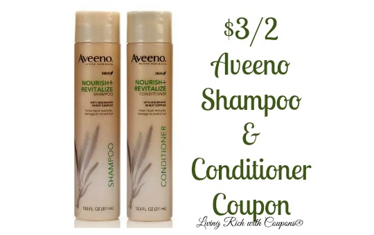 Aveeno Coupon - $3/2 Aveeno Shampoo/ Conditioner Coupon -