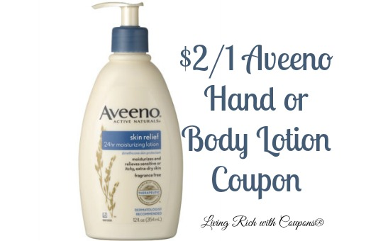Aveeno Coupon - $2/1 Aveeno Hand or Body Lotion Coupon -