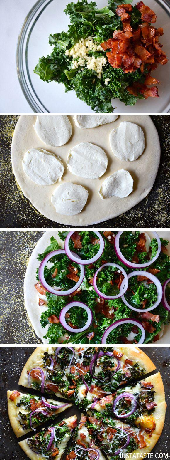 Garlic, Bacon, Kale Pizza