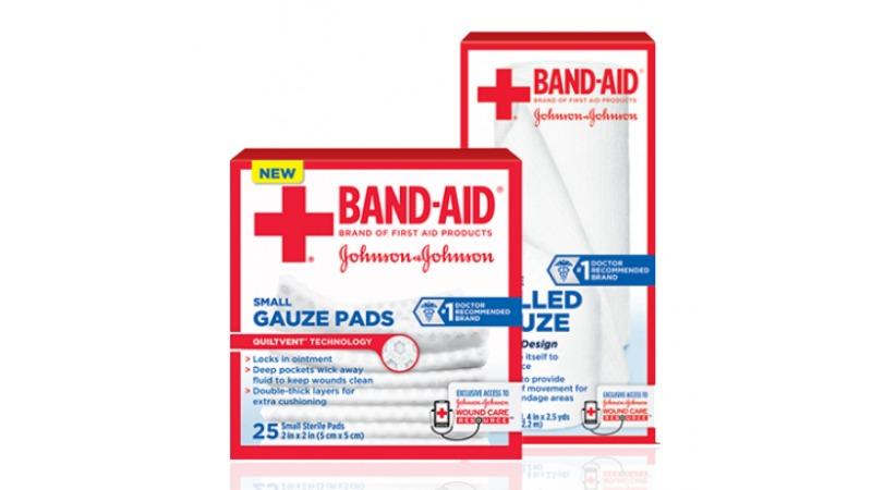 Printable coupon band aid