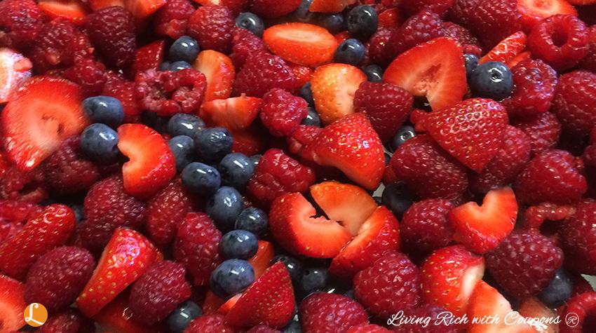 berry cobbler - berries