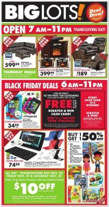 Big Lots Black Friday Ad 2013