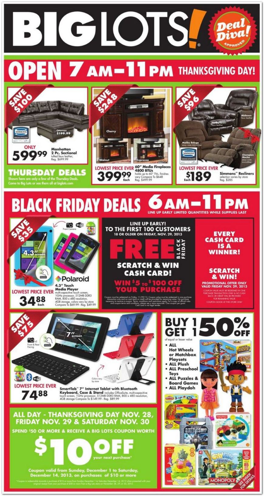Big Lots Black Friday Ad 2013 Living Rich With Coupons